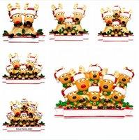 2020 크리스마스 매달려 장식품 엘크 가족 PVC DIY 이름 검역 트리 장식 개인화 검역 펜던트 새해 선물 DDA603