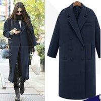 Jappkbh осень зима шерсть длинные пальто куртки повседневные двубортные рождественские пиджаки тушь элегантный V-образным вырезом женское пальто Bayan Mont 201221