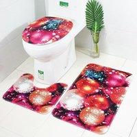 Tapetes de banho Christmas Toilet Tapete 3 pçs / set banheiro tapete tapete tampa tampa tampa de assento tampa tampas antiderrapantes yyb4754