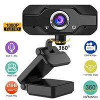 1080 P Webcam Mikrofon ile USB Kamera Mac / PC Dizüstü Bilgisayar Masaüstü Video Çağrı Web IP Kamera Tüketici Kameralar 2020 Hot1