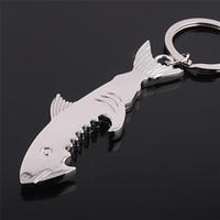 Ouvre-bouteilles Porte-clés Porte-clés Promotion Chark Shark Personnalisé Shark Shank Forme En Alliage de zinc Botteuse Ouvre-clé Porte-clés Femmes Men Clés Anneaux