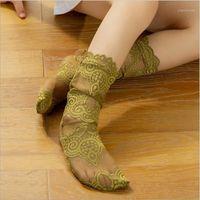 Adorable Princess Girls Lace Socks Summer Elegant Knee High Long Long SoGs For Girls Boties Socks Children Meias 0-7y1