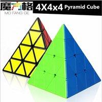 Qiyi 4x4x4 Pyramid Speed Cube Qiyi Pyramid 4x4 Puzzle Magic Cubo 4x4 Puzzle Pyramid Cube Niños Educación Juguetes Y200428