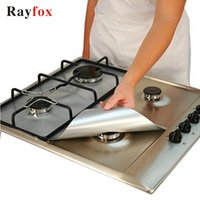 Rayfox 가스 스토브 보호기 1PC 재사용 가스 스토브 버너 커버 라이너 매트 화재 부상 보호 주방 액세서리 가제트 F