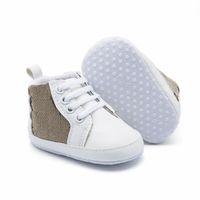 طفل رضيع أحذية رياضية الخريف الصلبة للجنسين سرير أحذية الرضع بو الجلود الأحذية طفل الأخفاف طفلة الأولى ووكر الأحذية 0-18mos