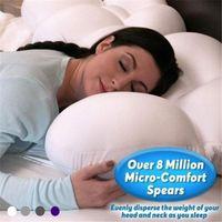 베개 전체 둥근 수면 계란 잠자는 기억 거품 소프트 정형 외 정형 목 통증 릴리스 3D 마이크로 에어볼 딥