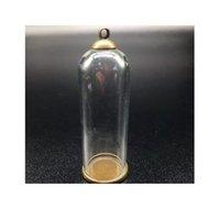 5sets 50 мм высотой 18 мм ширина прозрачный стеклянный глобус бронзовые покрытые кружевной лоток 8 мм шапки шапки DIY стеклянные флаконы кулон ювелирные изделия bbyjzc