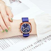 Armbanduhren mode frauen nylon uhr top marke wwoor luxus hochhitring blau sport datum quarz armbanduhr lässig weibliche geschenkuhren dress1