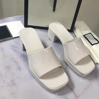 """2021 Kadın Sandalet Yüksek Topuklu Kauçuk Slayt Sandalet Platformu Terlik Tıknaz 2.4 """"Topuk Yükseklik Ayakkabı Yaz Kabartmalı Çevirme Kutusu 267"""