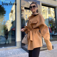 Hawthaw Women Autumn Winter Pocket Fashion Streetwear Female...