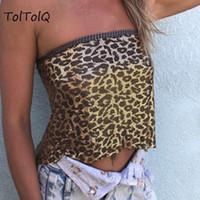 Toltolq 2019 Summer Metal Tops Tetaher Sexy Révéler Tube Tube Top Valette Femme Sexy Fashion Tops Club Partywear Beach Casual Top1