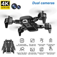 AZMA KK6 2.4G RC Drone WiFi FPV 4K HD Dual Camera Optical Flow RC Складной Quadcopter Следуйте за мной Широкоугольная камера RTF Mini Drone