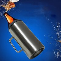 64oz 2.0L Süper Büyük Kapasiteli Paslanmaz Çelik Vakum 2L Soğuk Depolama Bira Soğuk Koku Mağaza Can Şişe
