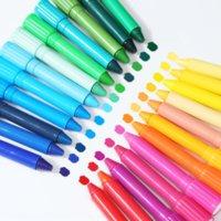 USJ5L 12 Bunte Farbe Stift Brushbrush Pinsel36 Farbe Wasser lösliche Rotary Pinsel Crayon Ölgemälde Stick Kinder Malerei Stickstudent