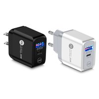 Caricabatteria USB Black White Wall Adapter QC3.0 Ricarica rapida UE US US Plug 3100mA 5 V Caricatore rapido per tipo C Qualsiasi smartphone Tablet PC MP4 Dispositivi