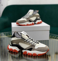 2021 Высочайшее качество Итальянский дизайнер Мужской Привет Лучшие кроссовки Италия Тройная кожаная платформа Платформа Платформа Черный Белый Повседневная Плоские Шнурки Обувь