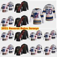 Buffalo Sabers 2021 Reverse Retro Hockey-Trikots Evan Rodrigues Conor Sheary Zach Bogosian Marco Scandella Andrew Hammond Custom genäht