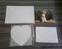 Sublimation Blank Puzzles DIY Heart Love Square Shape Hot He...