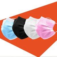 одноразовые маска для лица взрослых дети сталкиваются масками красочной 3 слоя черного Anit пыли роты лицевой маска крышка 3-слойный Нетканых chilid маска бесплатная доставка