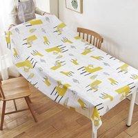 Cartoon Impermeabile PEVA Tablecloth Tovaglia a prova di olio Tavolo rettangolare Tavolo da pranzo Cover Ristorante Decorazione domestica MX71715541