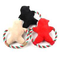 Perro molar mordedura juguetes santa pan de jengibre hombre perro muñeco cachorro pellush vocal juguetes perro navidad regalos ddc2098