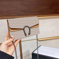 2021 Neue Mode Damen Umhängetasche Klassische Kette Begriffe Handtasche Kleine Größe Kupplung Geldbörse Trendy Einkaufstasche mit Kasten