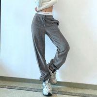 Sweatpants للنساء عداء عمان موهير الشتاء كودري السراويل للنساء الشارع الشهير المسار السراويل أزياء إلكتروني الرياضة