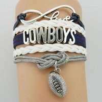 Multi-capa Cowboys Carta Infinity Football Team Braid Brazalet Sports Bangle New Hot1