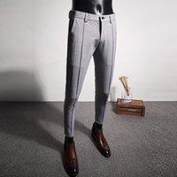 Повседневная формальная одежда мужские брюки высококачественные костюмы брюки мужские новой новой тонкий подходящий бутик бизнес мужские платья простые 201109