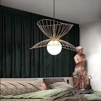 Nordic industrial Luzes pendentes Ferro Hat Lâmpadas de suspensão Quarto Luzes Pingente Loft Cozinha Suspensão Luminaire Home Lighting