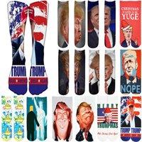 Men's Socks President Donald Unisex Funny Print Adult Casual Crew 3D For Men Hip Hop Skateboard Christmas Sock