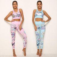 Yoga Set Women Fitness Clothing Sportswear Woman Gym Leggings Tights Padded Push-up Sports Bra Sports Suits Tummy Control Pants