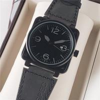 Großhandel Mode-Männer Luxus wacthes BR-Platz Designer-Sport-Armbanduhr-Edelstahl-Automatik-Uhrwerk Lederband Mal Uhr Günstige