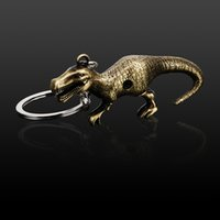 Leepee الأزياء المعادن الدائري سيارة التصميم خمر حقيبة محفظة قلادة ديناصور كيرينغ سيارة مفتاح سلسلة السيارات المفاتيح