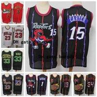 Vintage Carter McGrady Larry 33 Kuş James Harden Lebron 23 James Olajuwon Klasik Retro Reloaded Limited Edition Jersey Basketbol Formaları