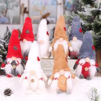 عيد الميلاد اليدوية السويدية غنوم الاسكندنافية Tomte سانتا Nisse الشمال القطيفة العفريت لعبة طاولة زينة شجرة عيد الميلاد زينة ث-00323