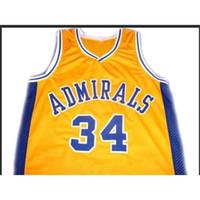 Özel 604 Gençlik Kadın Vintage ## 34 Kevin Garnett Admirals Koleji Basketbol Forması Boyutu S-4XL veya Özel Herhangi Bir Ad veya Numarası Forması