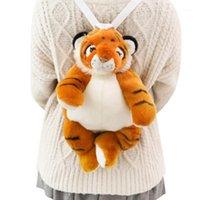 MillFly Dropshipping Plüsch Tiger Rucksack Peluche Tiere Spielzeug Tiger Kindergarten Kleinkind Schultasche für Kinder Kinder Geschenke1