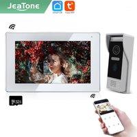 "JEATONE TUYA SMARTELLING 7 ""IP WiFi Video-Gegensprechanlage für Home Monitor Türglocke drahtlose Anruf Türklingel im Freien mit Kamera AHD1"