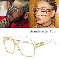 DPZ Design Fashion Classic Grandmaster Cuatro estilo degradado Lente Gafas de sol Hombres Vintage Sun Glasses1