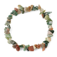 Mos Agates Armband Natuursteen Chip Crystal Onyx Kralen Groene Kralen Stretch Armbanden voor Vrouwen Kerst Sieraden