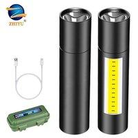 Zhiyu recargable LED COB + XPE Torch Foco Zoomable Flashlights 3 Modos Impermeable TRABAJO LIGHT EMERGENCIA LANTERNA1