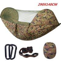 Zelte und Unterkünfte 290x140 cm große automatische schnelleröffnung Moskitonetz Baum Zelt Outdoor Camping doppelt wasserdichtes Parachute Tuch Nylon ha