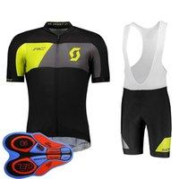 2019 Bisiklet Takımı Scott Bisiklet Jersey 9D Önlüğü Şort Set Erkekler MTB Bisiklet Giyim Yaz Hızlı Kuru Spor Üniforma Yarış Giyim K082322