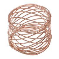 Metallserviette Ring Electroplat Säule Form Western Stil Servietten Halter Hotel Sonderzweck OPP Packung mit unterschiedlichen Stil 4 46Cl J1