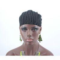 3pcs cornrows Capuchon pour la couture plus facile dans les bouchons de perruque tressée Câpette Noir Couleur Haute Qualité Garantie rapide Expédition rapide