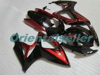Corpo Para SUZUKI GSX R600 GSXR750 GSXR600 GSXR600 06-07 GSX R750 GSXR 600 750 K6 GSXR750 2006 2007 Fairing kit Nova Fábrica vermelho AD125 preto