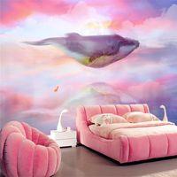3D стереоскопический Обои для гостиной Фрески Природа Пейзаж Современные обои для стен 3D Home Decor мультфильм Фото Mural