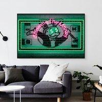 Pintura da lona Posters parede e impressões Mostre-me o dinheiro HD Wall Art Pictures Para Sala de jantar da decoração Restaurante Hotel Home Decor