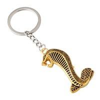 Металлическая ключевая пряжка китайский зодиак змея брелок Cobra ключей животных кольцо новый стиль с серебряным золотом цветом 2 4YY J1